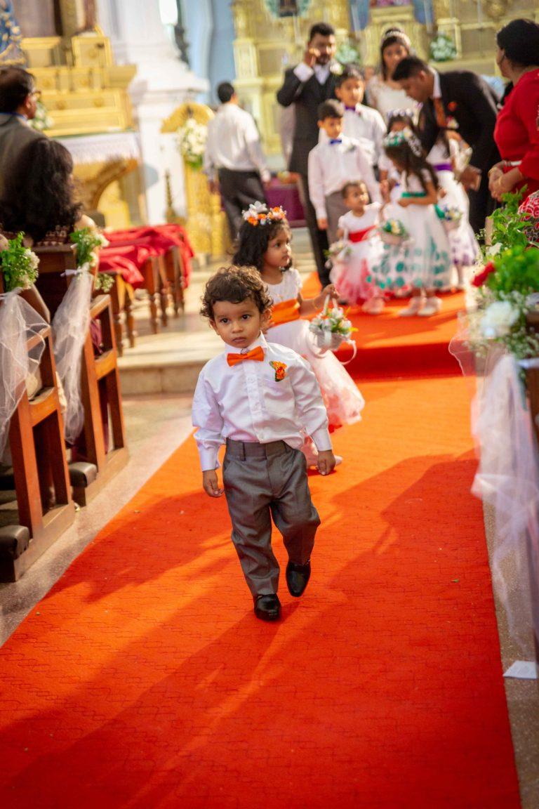 Flower boy and Flower Girl in a Goan wedding