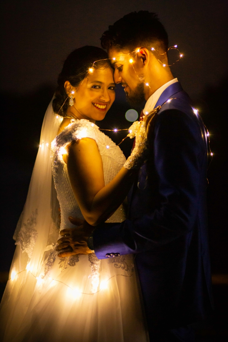 Lovely Photograph of Goan Bride and Groom