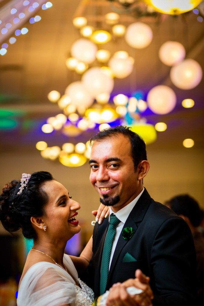 Bride and Groom in Goa share the first dance
